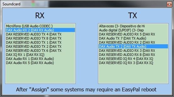EASYPAL ajustes de sonido