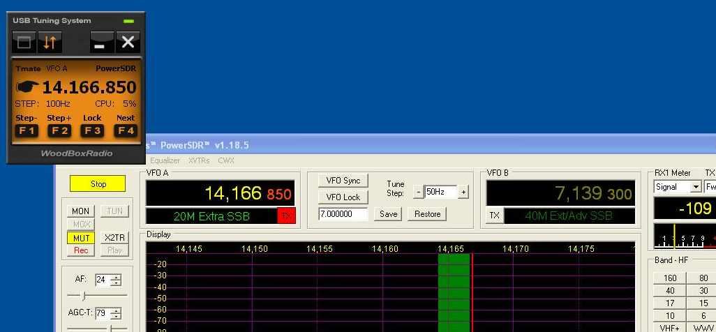 Tmate junto a PowerSDR